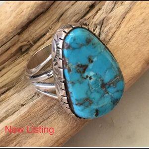 Vintage Navajo Padilla Turquoise Ring